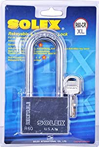 Solex Chrome Padlock Long 60mm