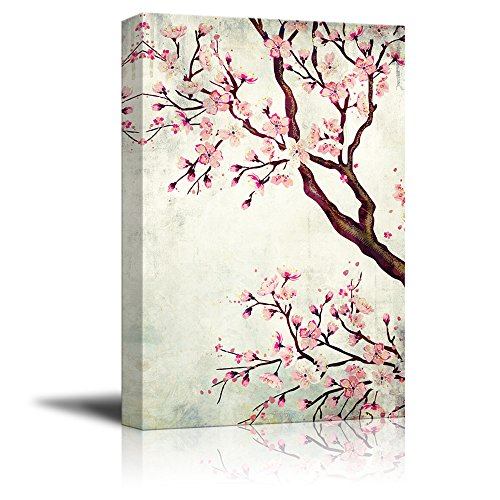 Watercolor Painting Style Cherry Blossom