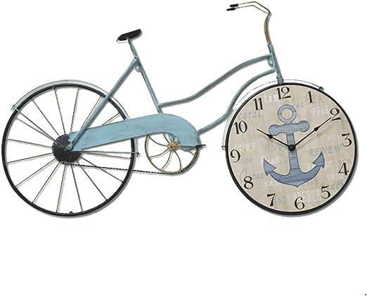 AOUNSC Reloj de Pared de la Bicicleta Reloj Digital de Cuarzo ...
