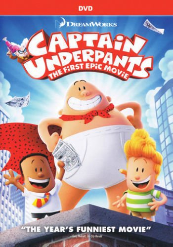Captain Underpants: The First Epic Movie (DVD 2017)