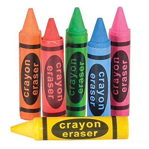 Crayon Eraser Assorted Colors School product image