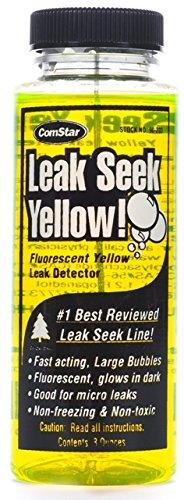 ComStar 90-203 Leak Seek Gas Leak Detector, 8 oz. Bottle, Fluorescent Yellow by Comstar