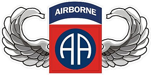 US Army 82nd Airborne Jump Wings Decal Sticker 5.5