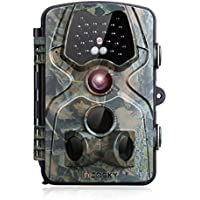 Game Camera incoSKY 1080P 12MP Wildlife Hunting Motion Activated No Glow IR Night Vision 66ft 120° PIR Sensor with 2.4 LCD Screen IP66 Waterproof, DN3