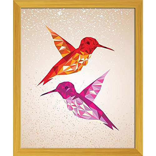 Artzfolio Abstract Humming Birds Triangles Shapes Canvas Painting