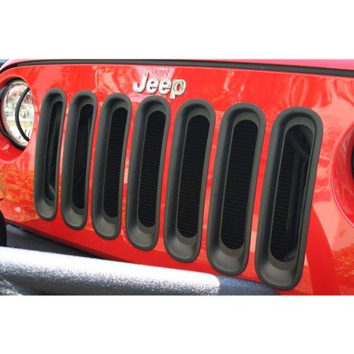 Ridge Rugged Radiator - Rugged Ridge 11306.30 Black Grille Insert