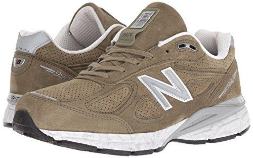 New Balance Men's 990v4 Running Shoe, Covert Green/White, 7 D US by New Balance (Image #5)