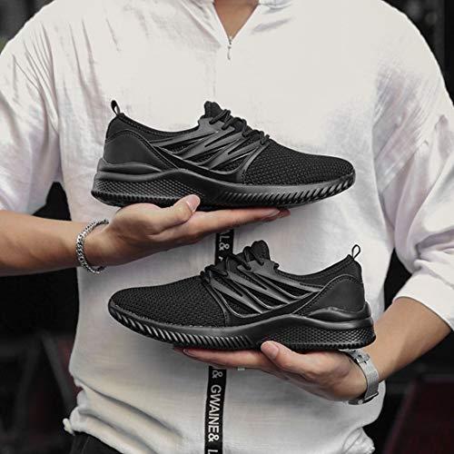 Hommes En Respirant Sport Plein 39 Chaussures Noir Semelle Course D'escalade Caoutchouc De Air Antidérapant Flykitting RHaYwqa