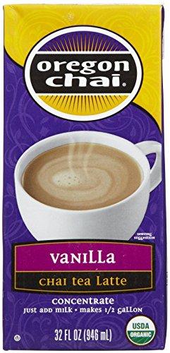 Chai Tea Vanilla Oregon - Oregon Chai Vanilla Chai Tea Latte Concentrate, 32 oz