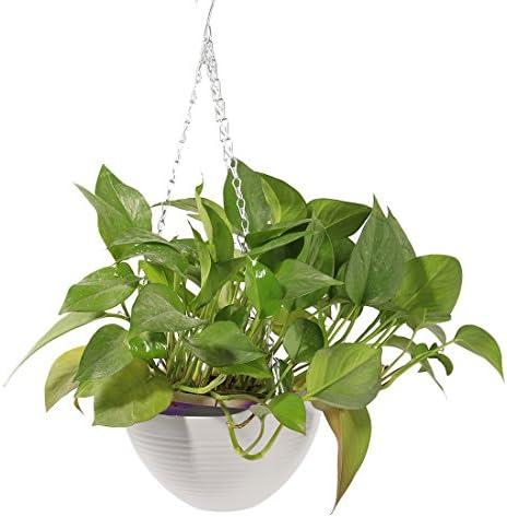 "Lot Of 4 Embossed Flower Pot Basket Planter Holder Garden Decoration 10"" Plastic"