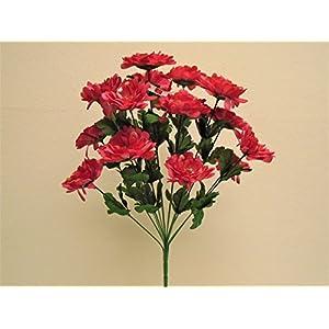 """Zinnia Bush 14 Artificial Silk Flowers 20"""" Bouquet 930 89"""