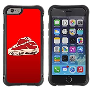 Hybrid Anti-Shock Defend Case for Apple iPhone 6 4.7 Inch / Meat