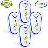 Bionic Wave+Ultrasonic Pest Repeller, 2019 Upgraded Electronic Rodent Repellent Plug in for PestReject Control for Mice,Roach, Spider, Ant, Mosquito, Bed Bugs and Other Insects-White, 4 Pack