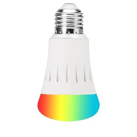 WiFi Smart LED Bombilla, BT A19 Multicolor LED Lampara, E27 7W Nocturna Bombillas Bombillas