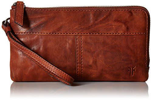 Veronica Double Pouch Wallet Wallet, COGNAC, One Size by FRYE
