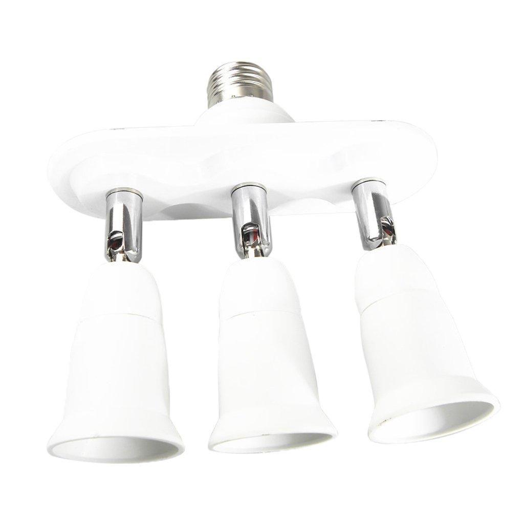Homyl 1 to 3/4/5 Adjustable E27 Base Light Bulb Adapter Holder Socket Splitter - E27 To 3E27