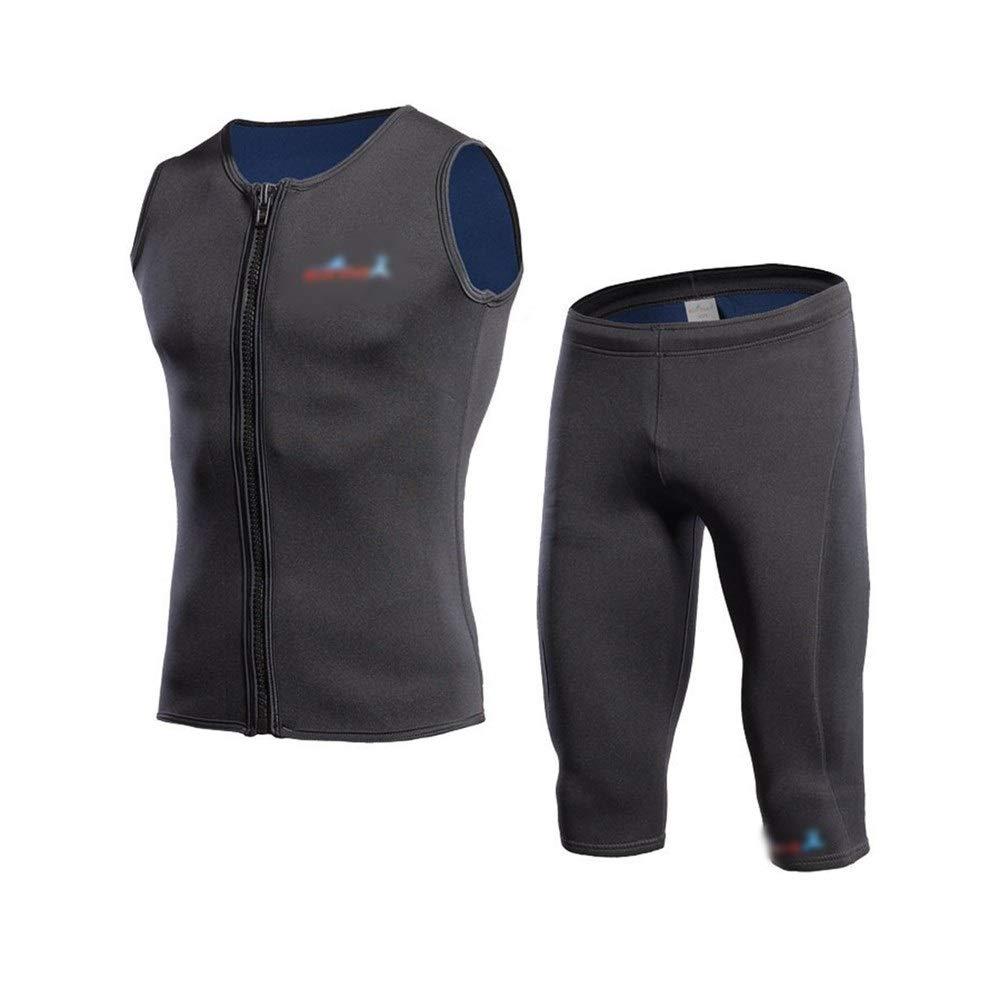 Noir XL BERYLSHOP Wet Suit courtey Wetsuit2mm Costume De Plongée Deux-pièces Hiver Gilet Chaud Snorkel Natation Froid Chaud VêteHommests Hiver Natation VêteHommests Chauds