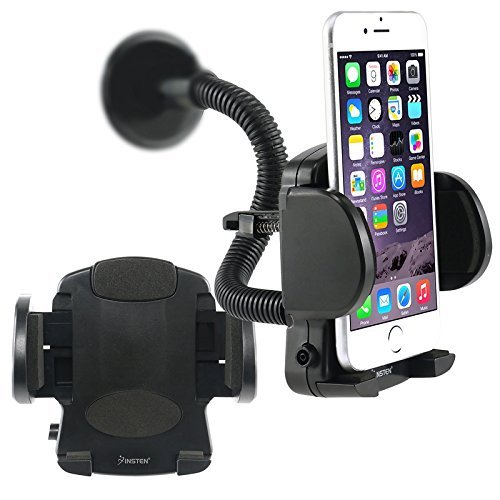 eForCity? Cellphone & PDA Holder - Windshield Mount Compatible with Samsung Galaxy S6/ Galaxy S6 Edge Samsung? Galaxy Note 4 / Apple? iPhone? 6 Plus (5.5) Samsung? Galaxy SIV/ S4 i9500,Black