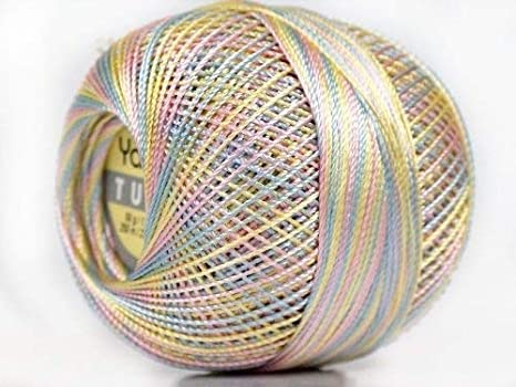 Yarn Art Tulip Size 10 Microfiber Thread Variegated Pastels 50 Gram