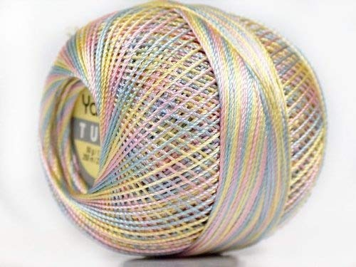Variegated Pastels - Yarn Art Tulip Size 10 Microfiber Thread - 50 Gram