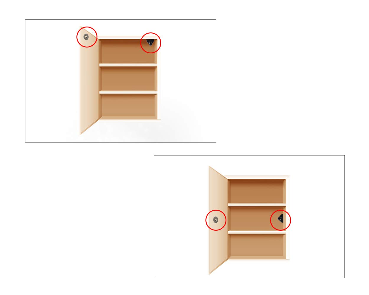 Shopready 4 Pcs Magnetic Damper Buffers Soft Close Open to Push Damper for Door Cabinet Drawer Cupboard