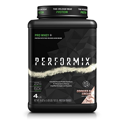 PERFORMIX PRO WHEY+ Protein Powder with TimeRelease Amino Beads, Muscle Protein Synthesis, Strength and Recovery, 4lb, Cookies & Cream