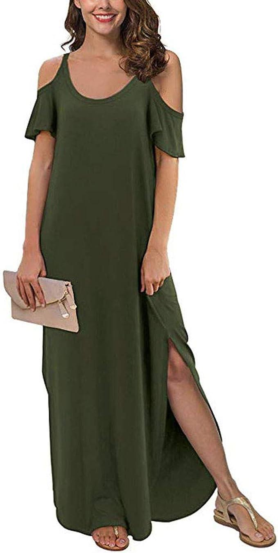 LUGOW Maxikleid Damen Abendkleider Strandkleid Sommerkleider