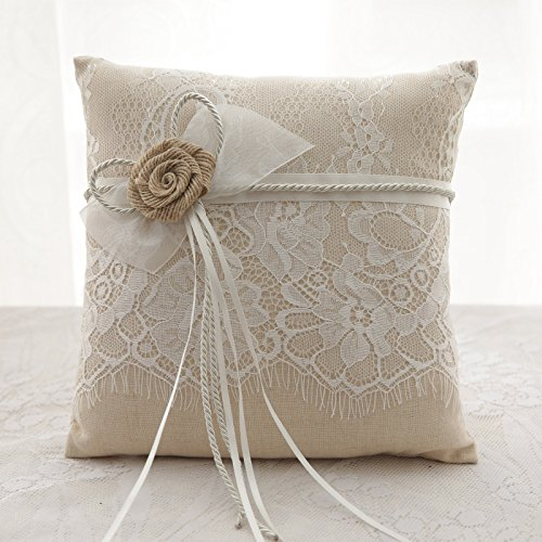 Amazon.com: Suyoo - Almohada para anillo de boda para ...