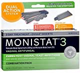 Monistat 3 Vaginal Antifungal, Ovule Inserts Combination Pack 1 Ea (pack of 9)