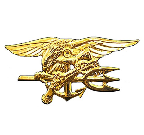 Seal Team Trident - US Navy SEALs Special Warfare SEAL Team Trident Insignia Badge Pin - Full Size