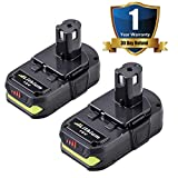 2 Pack P102 Lithium-Ion 18 Volt Replace for Ryobi 18V Battery One Plus 2500mAh P103 P104 P105 P107 P108 P109 for Ryobi 18V One+ Cordless Power Tools