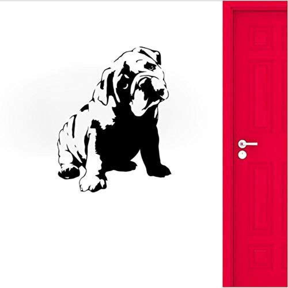 JXMK Hapy Dog Hoe Dog extraíble Personalidad Pegatinas de Pared Creativas Sala de Estar Dormitorio Tienda de Mascotas Fondo 52x66cm