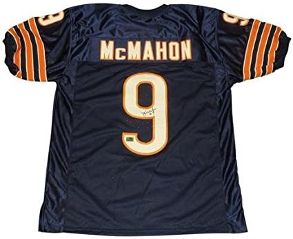 Jim McMahon Autographed Chicago Bears (Blue #9) Jersey at Amazon's ...