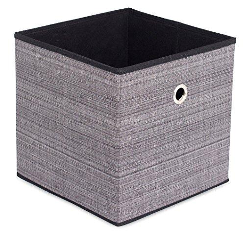 (Internet's Best Canvas Storage Bin | Durable Storage Cube Box Basket Container | Clothes Nursery Toys Organizer | Grey)