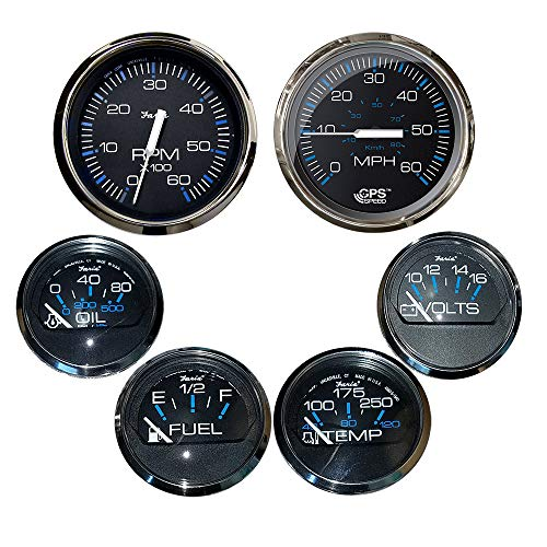 Faria Box Set of 6 Gauges - Speed, Tach, Fuel Level, Voltmeter, Wate. [KTF064]