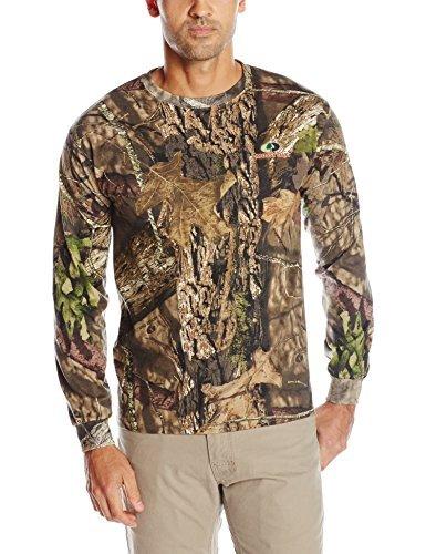 Mossy Oak Men's Long Sleeve Camo Tee, Camouflage, Medium