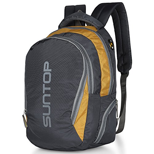 Suntop Reflector 25 Ltrs Grey & Yellow Checks Unisex Backpack Bag