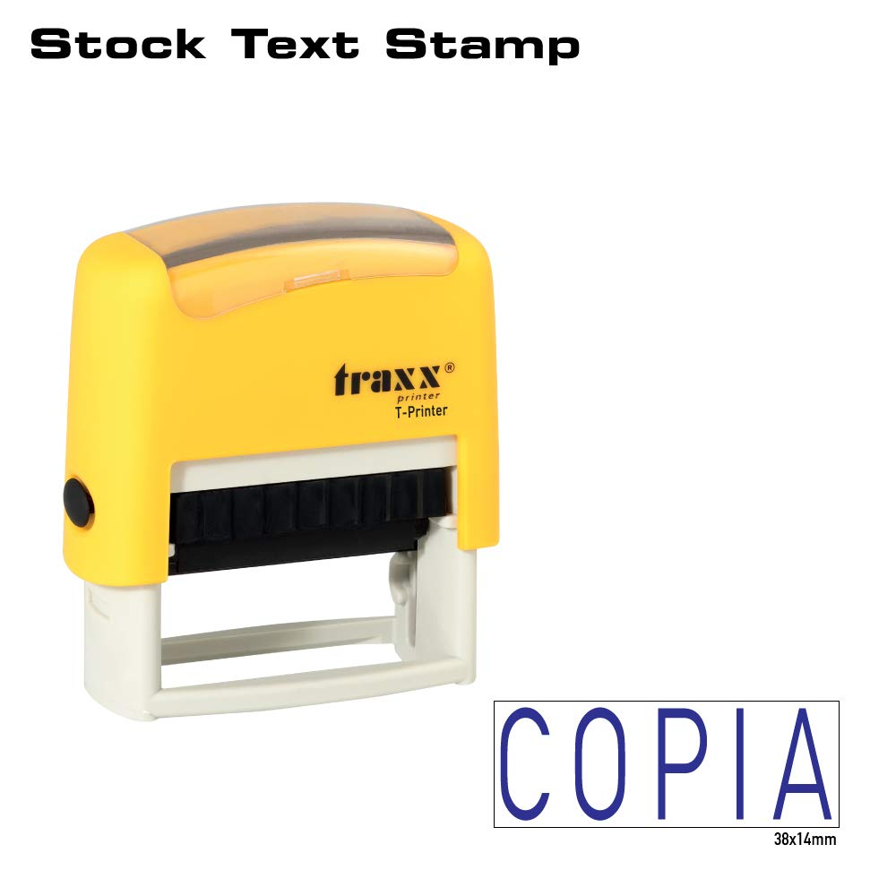 0989 self Inking stock testo timbrocopia Traxx t-printer es