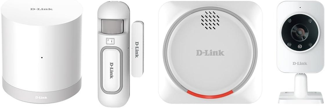 D-Link DCH-107KT - Kit Seguridad domótica WiFi Z-Wave, Sirena, Sensor de Apertura, hub WiFi Z-Wave y cámara de vigilancia, por App Gratuita mydlink Home para iOS y Android