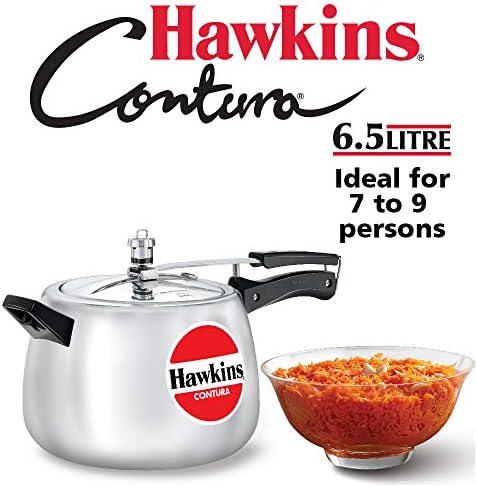 Hawkins Contura Pressure Cooker, 6-1 2-Litre New Shape