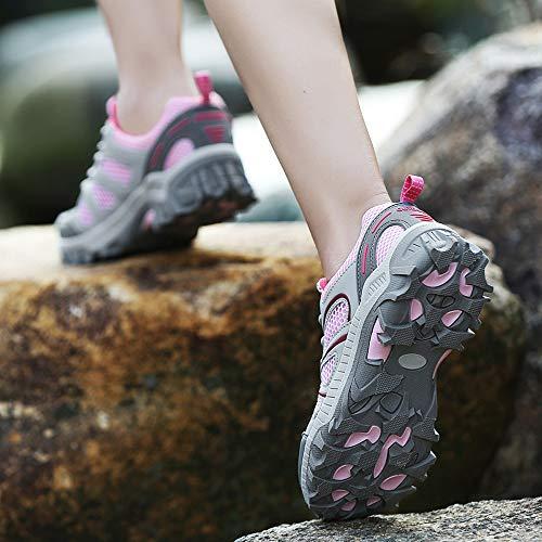 De Deportivas Casual Sneakers Deportivo Mujer Zapatillas 40 Exterior Mujer Montañismo 36 Zapatos Rosa Calzado Running Tefamore q1TfxW