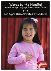 American Sign Language/ Baby Sign Language Cards - Ten Signs Demonstrated By Children. Set 1