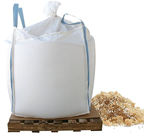 Bare Ground BGCSCA-1000 Tri-Blend Coated Granular Ice Melt with CaCl2 Flakes in Skidded Super Sack, 1000 lb ()