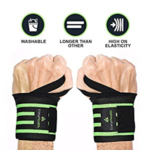 "EasyHealth Wrist Wraps 22"" Professional Grade with Thumb Loops Wrist Support for Men and Women"