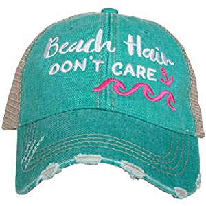 Beach Hair Don't Care WAVES Women's Trucker Hats Caps