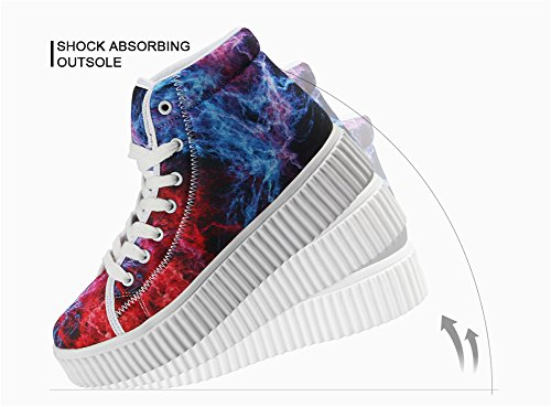 Printing Platform Fashion Cute HUGSIDEA Sneakers Shoes Tiger Animal qEwBnxt
