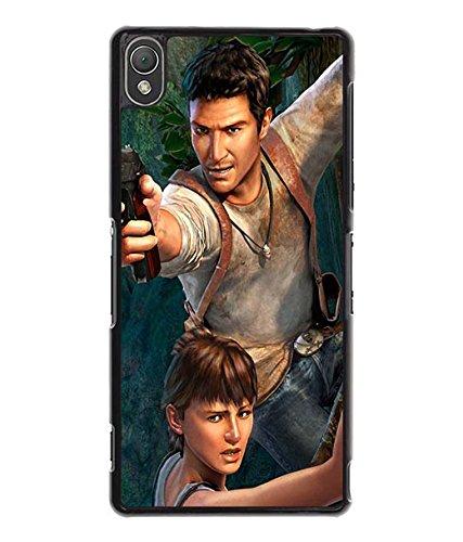 Uncharted Sony Z3 caso - piel carcasa rígida protección ...