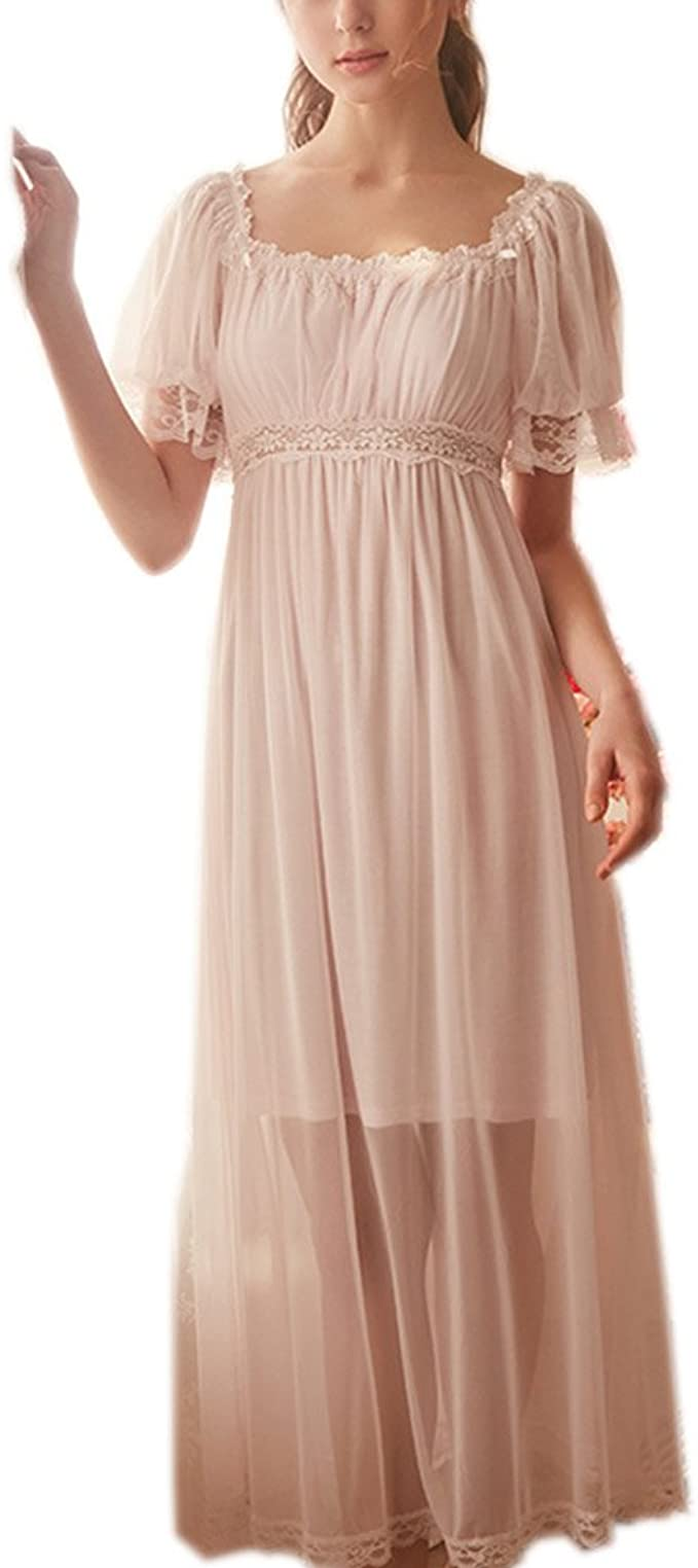 Cottagecore Clothing, Soft Aesthetic Womens Summer Lace Vintage Nightgown Victorian Princess Nightdress Chemises Babydoll Pajamas Lounger Sleepwear $31.89 AT vintagedancer.com