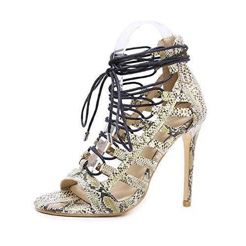 f53fc893a9 Hunzed Women Snake Shoes Clearance Women Sexy Fish Lips Shoes Cross Strap  Non-