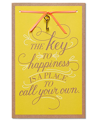 American Greetings Key to Happiness New Home Congratulations Card with